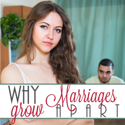"""We've all heard the saying, """"We just grew apart."""" Over time it happens, so how can you protect your own marriage from this rising trend? :: www.inallyoudo.net"""