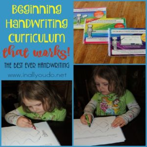 Choosing a handwriting curriculum for your little ones can be scary. So many choices! Check out this Beginning Handwriting Curriculum that WORKS!! :: www.inallyoudo.net!