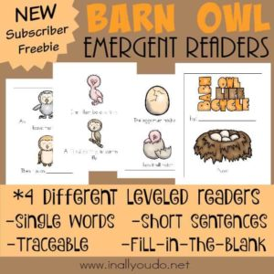 The Barn Owl is a wonderful and fascinating creature. Emergent Readers are a great way to practice reading skills while learning more about them! {4 levels} :: www.inallyoudo.net