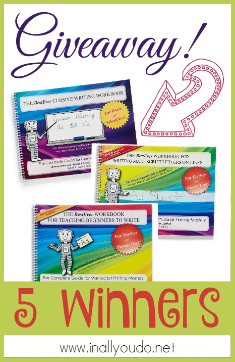 Looking for a beginning handwriting curriculum? Check out the one that works for us and be one of FIVE WINNERS!!! Ends 2.29.16!! :: www.inallyoudo.net