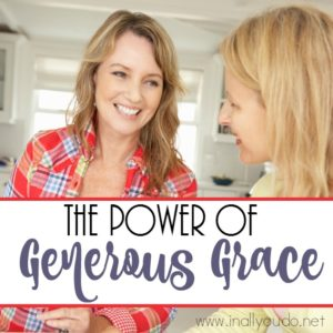 Judgment sometimes comes easier than grace, but grace is so much more powerful. Here's a story of the power of generous grace. :: www.inallyoudo.net