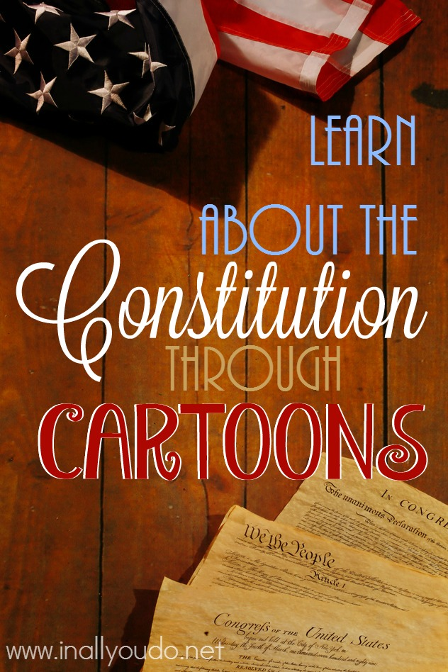 Learning about the Constitution is SUPER FUN with this book from David Bowman! Filled with facts and history shared through cartoons, kids will love it! :: www.inallyoudo.net
