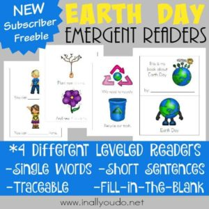Little ones will enjoy learning and celebrating Earth Day with these emergent readers! {4 levels} :: www.inallyoudo.net