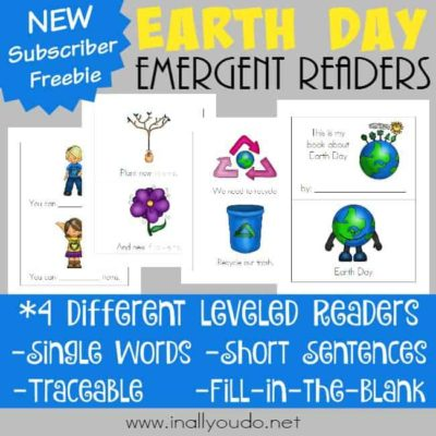 Earth Day Emergent Readers