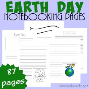 These Earth Day Notebooking Pages are a wonderful way to record all the ways kids can help keep the Earth clean! Includes over 87 pages of templates to choose from! :: www.inallyoudo.net