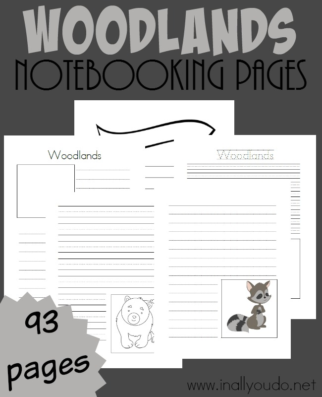 Whether you're doing research or observing in the woods, these Woodlands Notebooking pages! Over 90 templates to choose from! :: www.inallyoudo.net