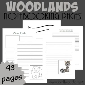 Woodlands Notebooking Pages