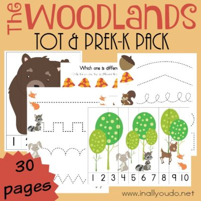 Woodlands Tot & PreK-K Pack