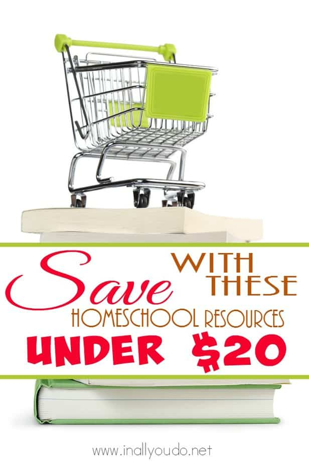 Don't let your budget for homeschool curriculum spiral out of control! Check out these great finds for under $20!! :: www.inallyoudo.net