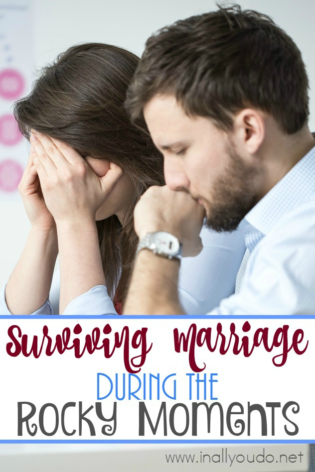 Every marriage has ups and downs. Don't loose sight of THE ONE who can help you through! Surviving those rocky moments are what bring you closer and make your marriage stronger! :: www.inallyoudo.net