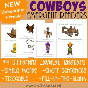 Cowboys Emergent Readers