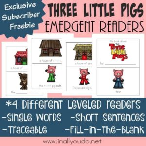 3 Little Pigs Emergent Readers