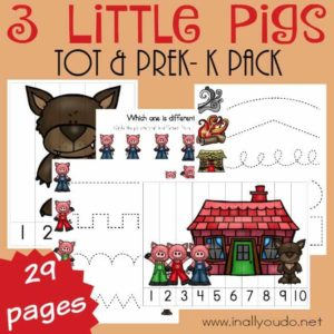 3 Little Pigs Tot & PreK-K Pack