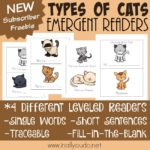 Types of Cats Emergent Readers