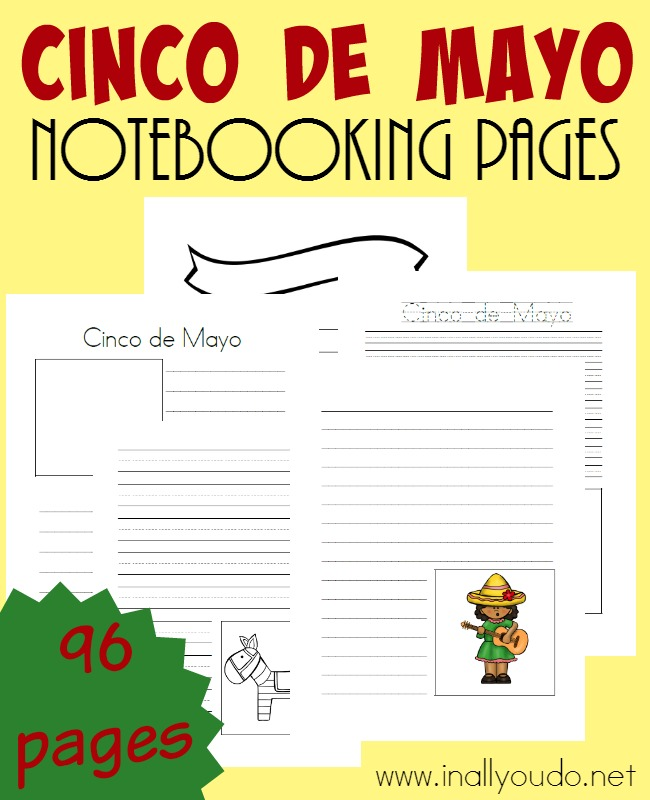 A great way to remember what you've researched and learned about Cinco de Mayo is with these Notebooking Pages! Includes over 95 templates! :: www.inallyoudo.net