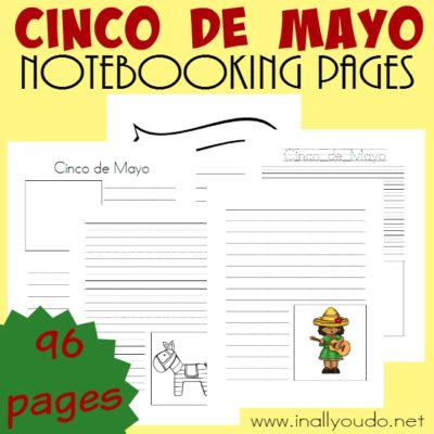 Cinco de Mayo Notebooking Pages {96 templates}