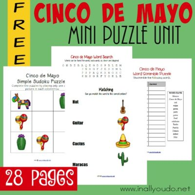 Cinco de Mayo Puzzle & Activity Pack