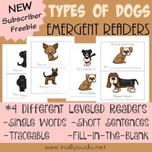 Types of Dogs Emergent Readers