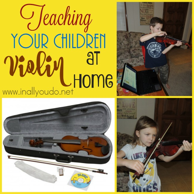 Teaching your children Violin at home is fun and simple with this great resource! See how my kids are thriving with it!! :: www.inallyoudo.net