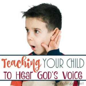Adults can have a difficult time hearing God's voice, so how can we teach our children? Here are some tips to help you. :: www.inallyoudo.net