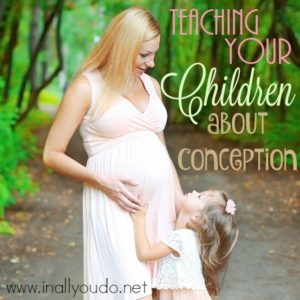 Have your kids ever asked where they came from or how they got in to your belly? Teaching them about conception can be difficult. Learn more about how we teach our children! :: www.inallyoudo.net