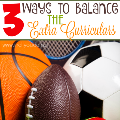 3 Ways to Balance the Extra Curriculars