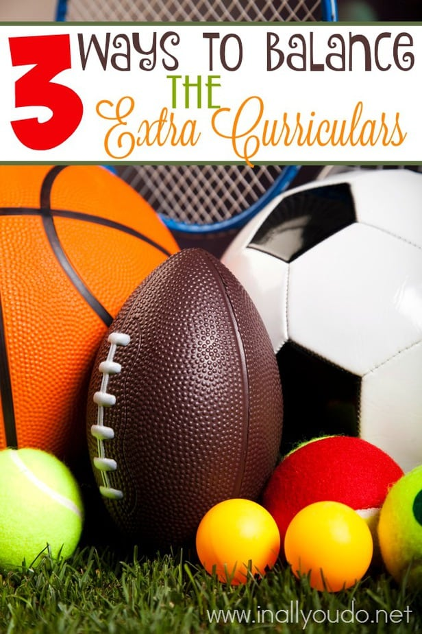 Are your kids involved in Extra Curriculars? Here are 3 Ways to Balance them with life and homeschooling. :: www.inallyoudo.net