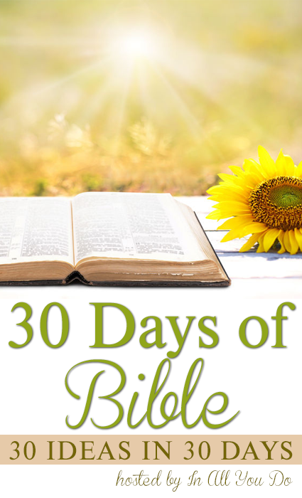 Join us in June for 30 Days of Bible! 30 posts from 18 different bloggers, sharing what God has laid on their hearts! :: www.inallyoudo.net