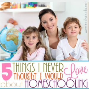 You ever start something thinking you know what to expect and what you'll learn? That's how homeschooling was for me! Here are 5 Things I Never thought I would LOVE about homeschooling! :: www.inallyoudo.net