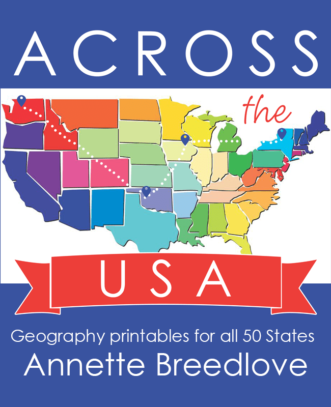 With these easy-to-use geography printables, learning the 50 states has never been more fun! Across the USA is a simple, yet fun-filled study of mapping skills, state history and fun facts. Over 645 pages of printables for just $24.99!! :: www.inallyoudo.net