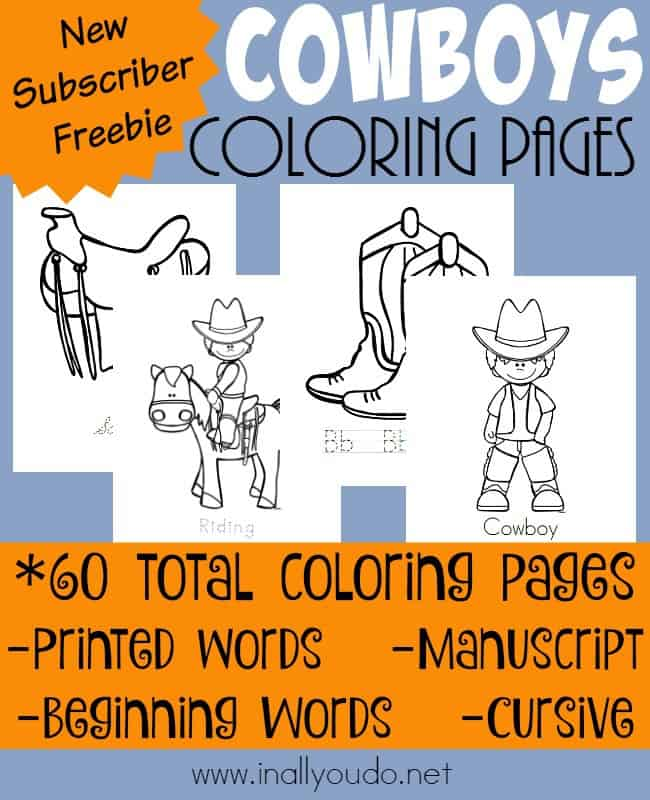 New Cowboy Coloring Pages In All You Do