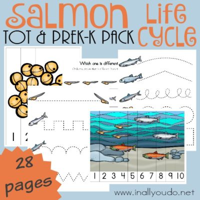 Salmon Life Cycle Tot & PreK-K Pack