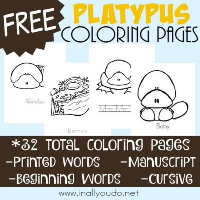 Platypus Life Cycle Coloring Pages