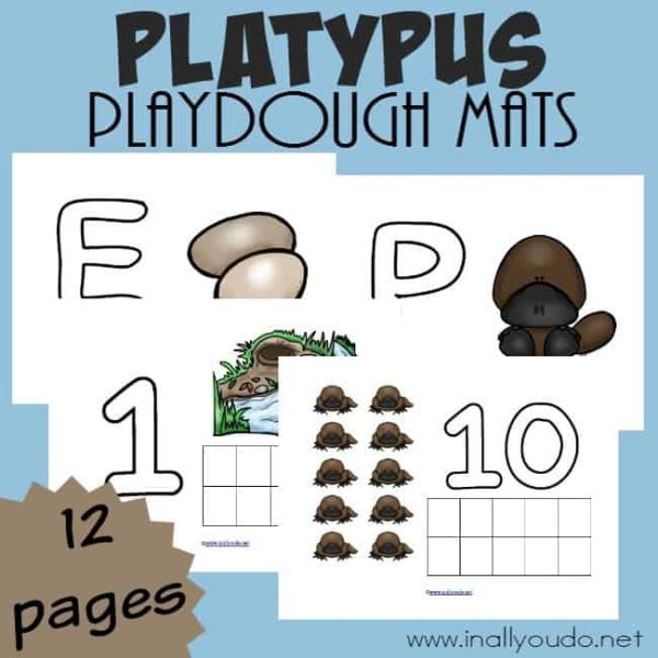 The Platypus may seem like such a strange animal to study, but your little ones will love these fun Playdough Mats as they work on fine motor skills and learn about this fascinating mammal! :: www.inallyoudo.net
