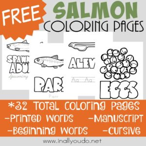 Salmon Life Cycle Coloring Pages