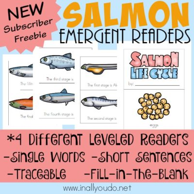 Salmon Life Cycle Emergent Readers