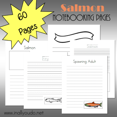 Salmon Notebooking Pages {60 pages}
