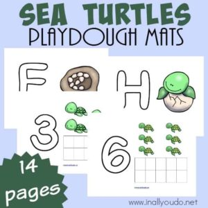 Sea Turtle Playdough Mats