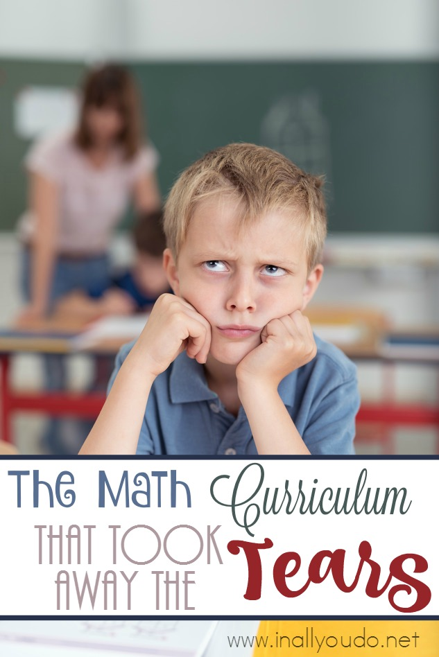 Do you have child that struggles with Math? Does it cause tears in your house? Check out the math curriculum we now use - WITHOUT tears! :: www.inallyoudo.net