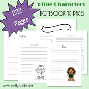 12 Bible Characters Notebooking Pages