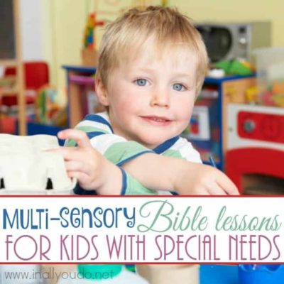 Multi-Sensory Bible Lessons for Kids with Special Needs