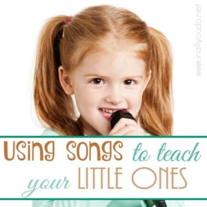 Using songs to teach your little ones Bible truths, verses and stories can be so much fun! Here is a list of a few of my favorites. :: www.inallyoudo.net