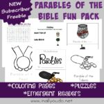 Parables of the Bible Printable Fun Pack