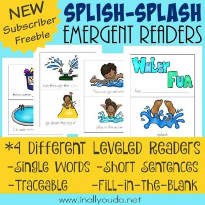 Splish-Splash Emergent Readers
