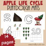 Apple Life Cycle Playdough Mats