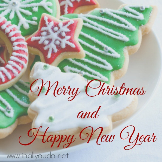 Colorful Christmas Cookies On A Plate In All You Do