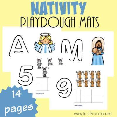 Nativity Playdough Mats