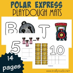 Polar Express Playdough Mats