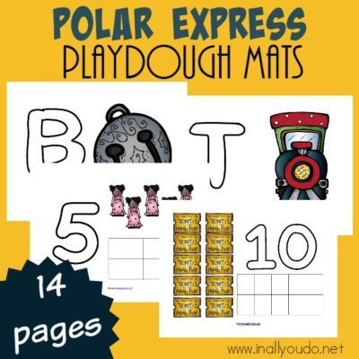 Polar Express Playdough Mats