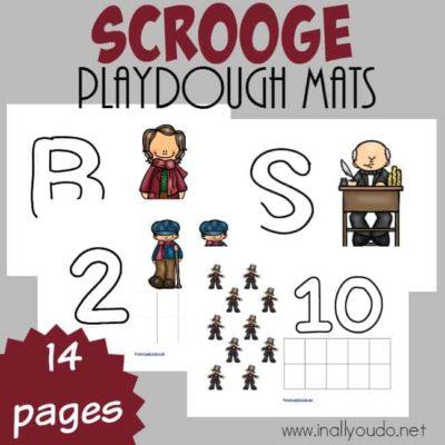 Scrooge Playdough Mats